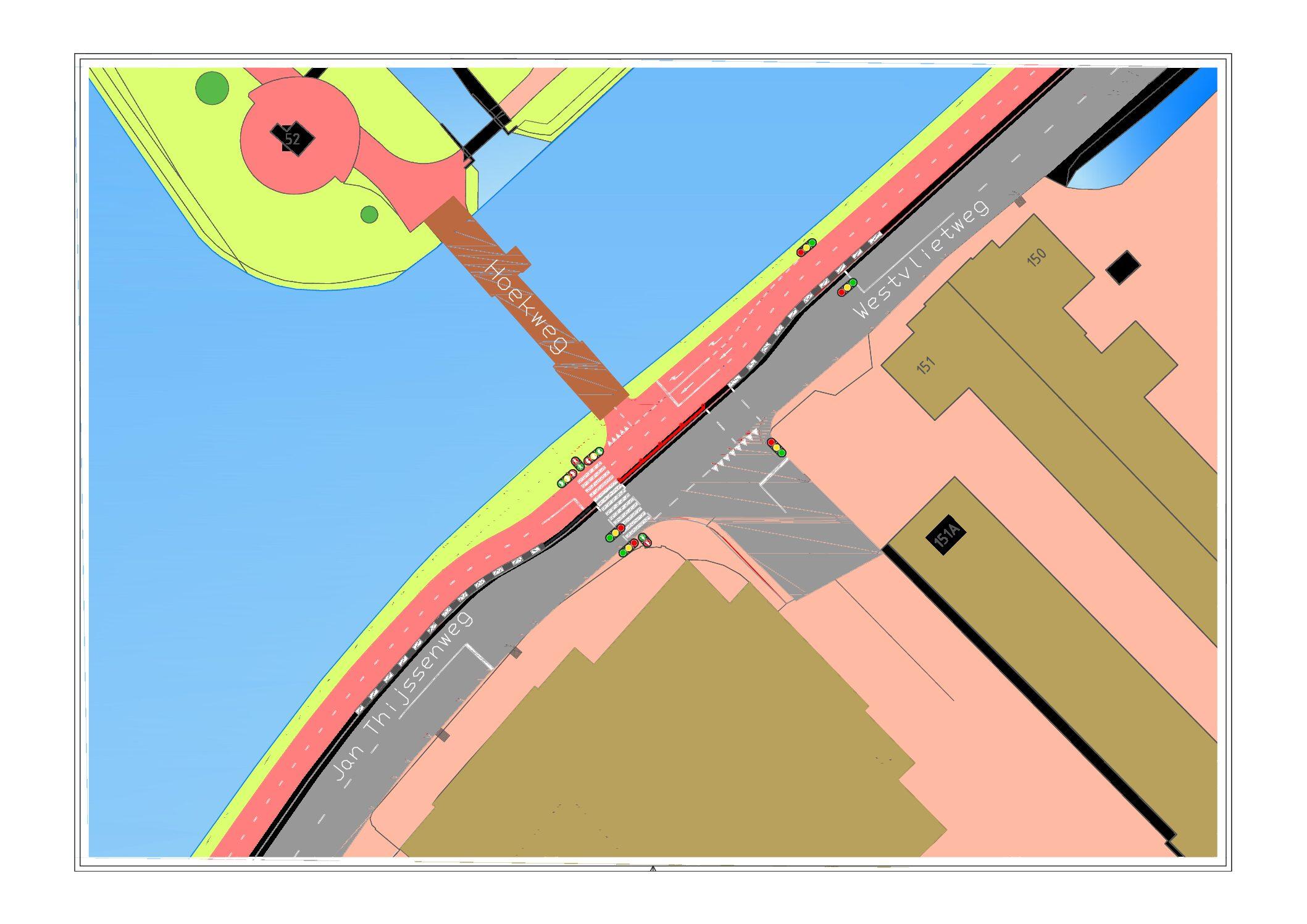 Geplande werkzaamheden Westvlietweg t.h.v. Nieuwe Tolbrug – 'Kippenbruggetje'